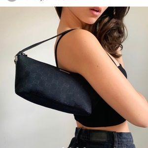 Gucci Pochette Canvas Shoulder Bag